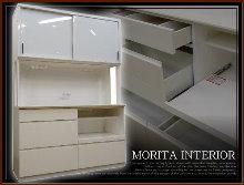 11-モリタインテリア白食器棚買取