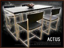 11-アクタスダイニングテーブル&チェア5点セット買取