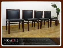 2-ミキモク椅子4脚買取